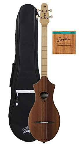 Seagull Merlin SG Dulcimer Guitar Bundle with Seagull Gig Bag and Strings - Natural Mahogany by Seagull