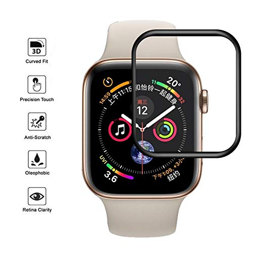 Amazon.com: BATOP Apple Watch Screen Protector || 3D Curved Full Cover Soft Edge Screen Protector Protective Tempered Glass for Apple Watch 40mm 44mm for ...