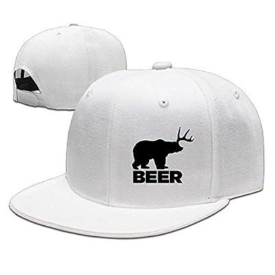 jacson Beer Bear Deer Unisex Snapback Adjustable Flat Bill Baseball Cap