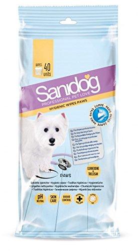 Sanidog Toallitas Healthy Paws,Limpieza y desinfección de las patas del perro. 40 Uds: Amazon.es: Productos para mascotas
