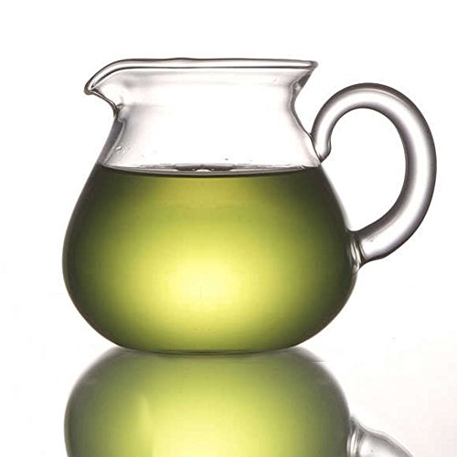 (ELITEA Clear Glass Milk Tea Serving Pitcher Cream Pitcher Mug 200ml / 7 fl.oz for Tea)