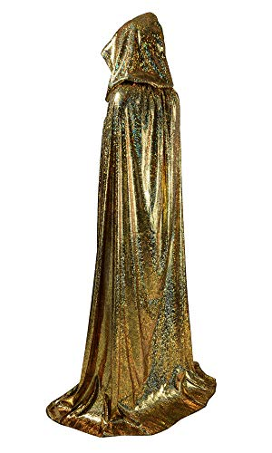 OurLore Unisex Full Length Hooded Cape Halloween Christmas Adult Cloak (Large, Gold)