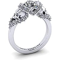 Jaywine2 Fashion Womens Jewelry 925 Silver White Sapphire Party Skull Head Wedding Ring (9)