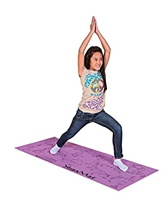 Amazon Com Sportime Illustrated Youth Yoga Mat With Pose Images 24 X 68 X 1 8 Inches Industrial Scientific