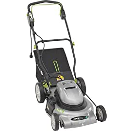 "Earthwise 18-Inch Corded Electric Lawn Mower 58 Powerful 12-Amp motor provides the power to cut all types of grasses; High efficiency motor for gas-like power Large 18"" cutting width with single lever easy-change cutting height adjustment from 1.75""-4""; 7"" wheels for great maneuverability 2-in-1 side discharge and mulching system;  Adjustable comfort 'V' handle with cushioned grip for easy of use"