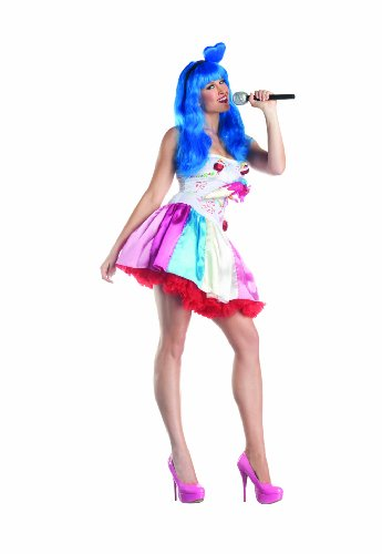 Party King Candy Girl Women's Costume Dress, Multi, Medium ()