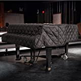 """Grand Piano Cover Black Quilted for Pianos From 4'10"""" - 5'2"""""""