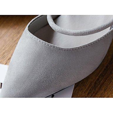 à LvYuan Talons Marche Gris Femme ggx black Chaussures 7 Combinaison Noir Cachemire cm Gros Eté 5 9 5 Talon à IIZrq