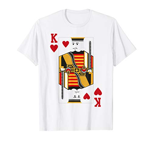 Halloween King of Hearts Costume Shirt Men