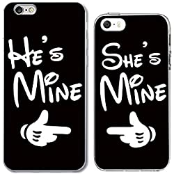 iPhone6+5 Couple Case for Best Friend or Lover-TTOTT Unique Fashion Cute Stylish Best Friend Lovers Gift Ultra-Slim Bumper Protective Back Case for iPhone[Left for iPhone6/6S Right for iPhone5/5S/5SE]