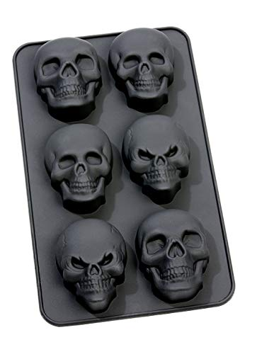 infinite by GEDA LABELS 13657 Silicone Muffin Mould Skull Shape -
