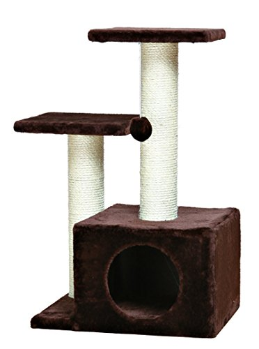 TRIXIE Pet Products Valencia Cat Tree, Chocolate Brown ()