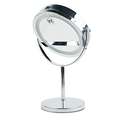 Magnifying Mirror Brightness Adjustable Make Up Makeup Mirror Dual 2 Sided Cosmetic LED Mirror