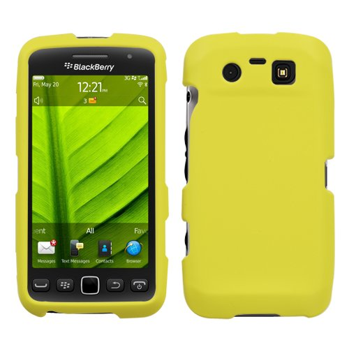 Asmyna BB9850HPCSO307NP Premium Durable Rubberized Protective Case for BlackBerry Torch 9850 - 1 Pack - Retail Packaging - Yellow (Yellow Blackberry Faceplates)