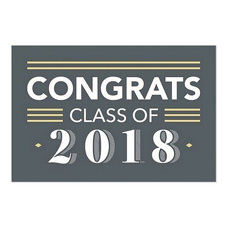 CGSignLab | ''Graduation Party -Classic Boy'' Repositionable Opaque White 1st Surface Static-Cling Non-Adhesive Window Decal (5-Pack) | 36''x24'' by CGSignLab