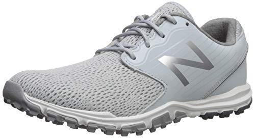 New Balance Women's Minimus SL Breathable Spikeless Comfort Golf Shoe, Light Grey, 7 W