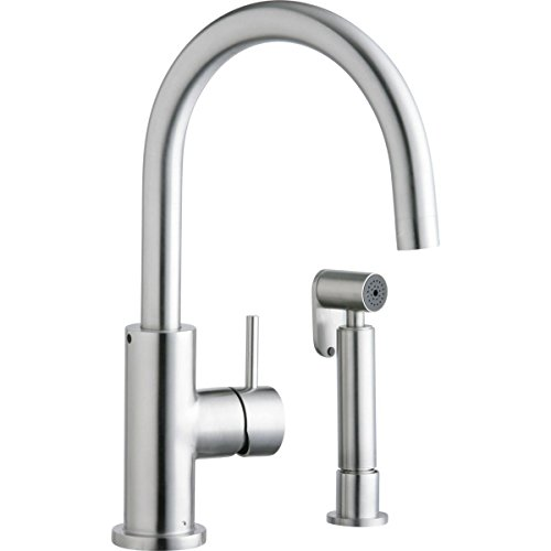 Elkay LK7922SSS Allure Satin Stainless Steel Single Lever Kitchen Faucet with Side Spray