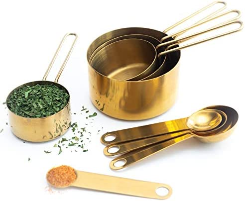 Modern Measuring Cups Spoons Gold