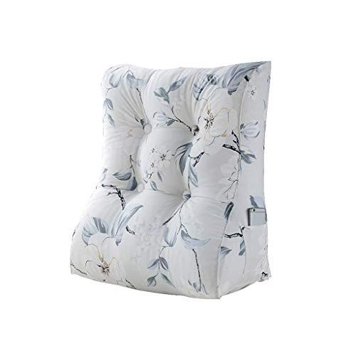 lumière gris grand EU8 Coussin de sofa de triangle, tête de lit de paquet mou de lit de paquet mou de lit d'oreiller lombaire de bureau grande taille de soin de cou arrière amovible et lavable