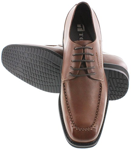 Toto X67011-2.8 inches Taller - height Increasing Elevator Shoes - Dark Brown Leather Lace-up Dress Shoes JKeMpXm5