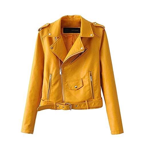 Yellow Leather Jacket - 3