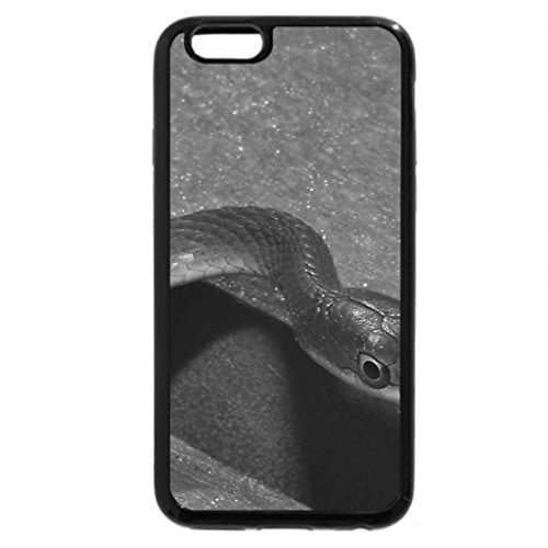 iPhone 6S Case, iPhone 6 Case (Black & White) - GREEN SNAKE
