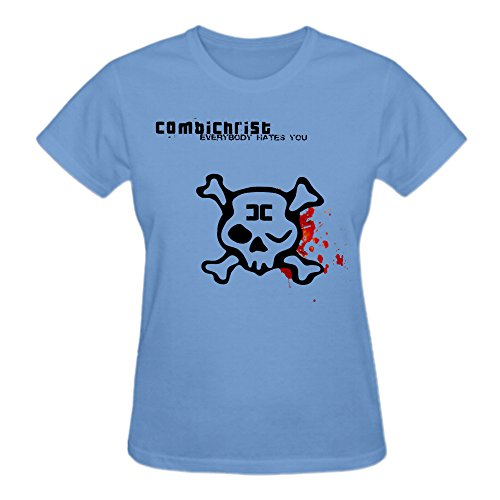 Combichrist Everybody Hates You Womens T Shirts With Designs O-Neck Blue