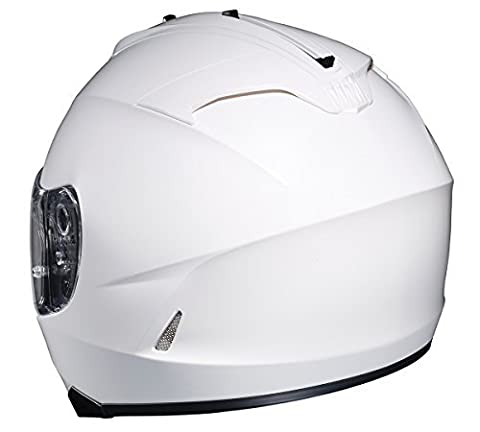 HJC IS-17 Full-Face Motorcycle Helmet (White, Medium) - White Full Face Helmet