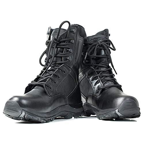 all'Acqua Resistenti Militari Stivali Tattici Black da Pieno Uomo Fiore Stivali in Pelle qZOzvcU