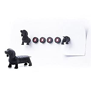 Button Magnets Dachshund Magnetic Dog by Qualy Design Studio. Fun Magnets for Office and House. Can be used on Whiteboards, Magnetic Boards, Refrigerators and other Magnetic Surfaces.