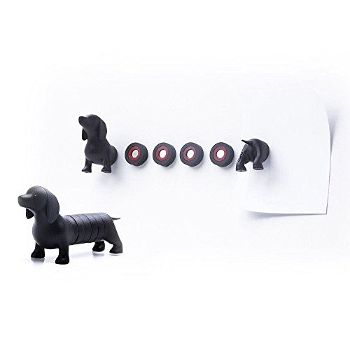 Button Magnets Dachshund Magnetic Dog by Qualy Design Studio. Fun Magnets for Office and House. Can be used on Whiteboards, Magnetic Boards, Refrigerators and other Magnetic Surfaces. -
