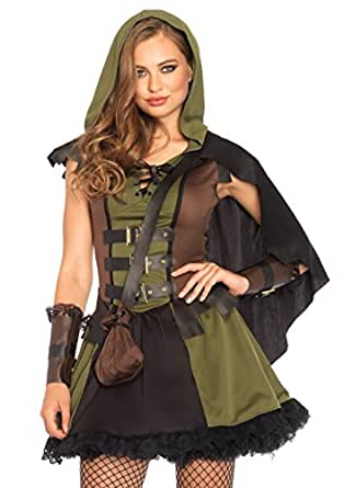 Image Unavailable  sc 1 st  Amazon.com & Amazon.com: Leg Avenue Womenu0027s Darling Robin Hood: Clothing