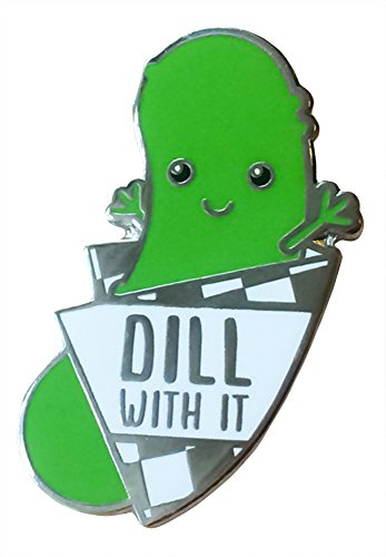 - TINY BEE CARDS - Funny Dill Pickle Enamel Pin