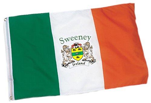 Sweeney Irish Coat of Arms Flag - 3