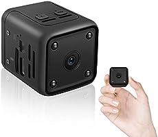 Mini Kamera,HD 1080P Kleine Überwachungskamera mit Bewegungserfassung und Infrarot Nachtsicht Büro Videoanrufkamera Nanny...