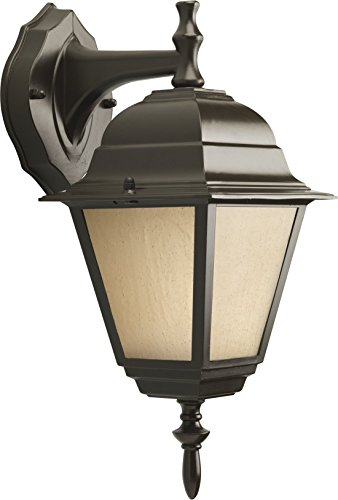 HomeStyle HS77006-125 One Light Small Wall Lantern-Down/ Die Cast in Bronze