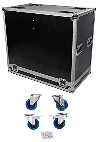 ProX XS-2X15-SPW Speaker Flight Case For (2) 15'' Speakers w/ Heavy Duty Casters by ProX Cases