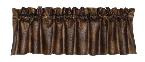 HiEnd Accents Rustic Faux Leather Western Valance