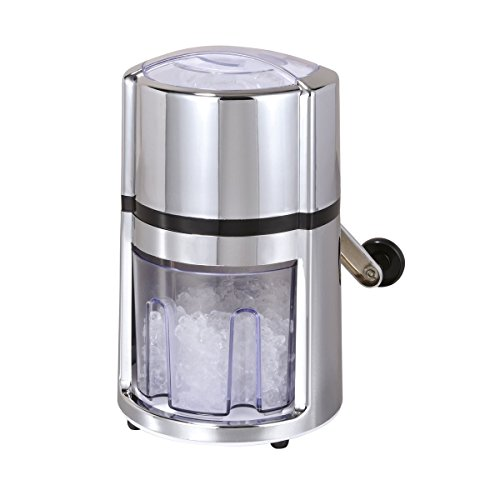 axentia Modern Manual Ice Crusher in Rust-Free Stainless Steel - Cocktail...