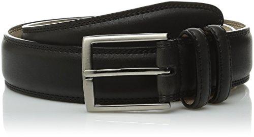 Stacy Adams Men's 34mm Geniune Leather Belt with Microfiber Lining, Black, ()