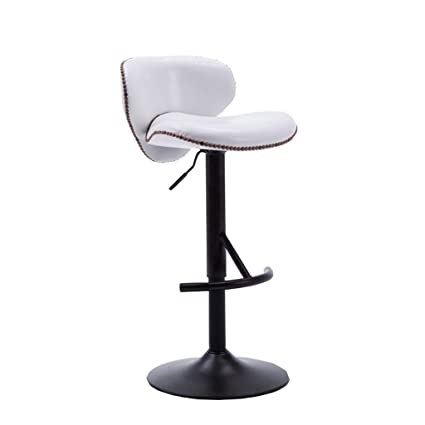 2pcs European Bar Stool Lift Rotating Bar Chair Cash Register High Stool Home Beauty Front Back Stool Furniture