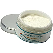 Organic Acne Treatment by Endlessly Beautiful - Vegan Mineral Night Healing Powder for Acne Prone, Rosacea, & Oily Skin Types - Clears Blemishes Overnight - Pregnancy Safe