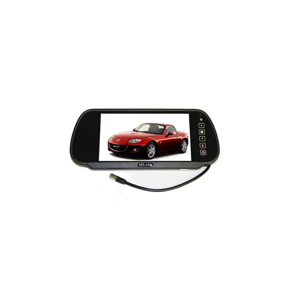 7 Inch 169 TFT LCD Color Widescreen Wireless Bluetooth Car Rear View Mirror Monitor, Dual Video Inputs, V1/V2 Selecting, Car / Automobile Rear View Mirror Display Monitor With Remote Control Function