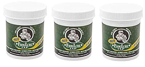 Froglube CLP 4 Oz. Tub of Paste Gun Cleaner Lubricant Protectant (Thrее Расk) by Frog Lube