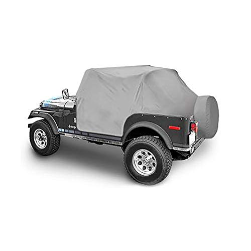 Cab Water Cover Resistant - Smittybilt 1059 Gray Water-Resistant Cab Cover with Door Flap