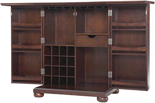 Crosley Furniture Alexandria Expandable Top Bar Cabinet - Vintage Mahogany