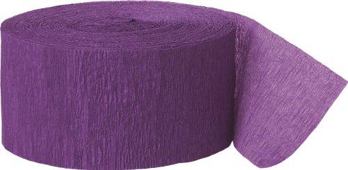 81ft Purple Crepe Paper Streamers