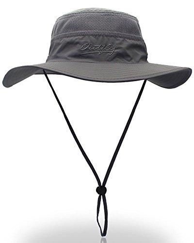 YOYEAH Outdoor UPF 59+ Boonie Hat Outdoor Mesh Sun Hat Bucket ... 9f0332c0b