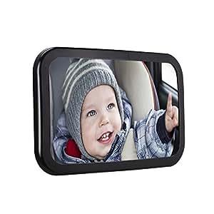 Ghb espejo retrovisor beb espejo de asiento trasero espejo de coche para ver bebe para los - Espejo coche bebe amazon ...