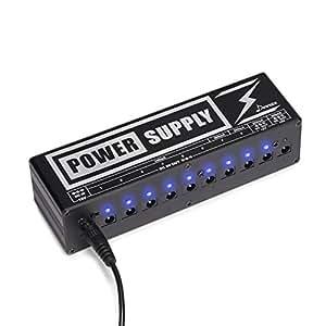 donner dp 2 guitar pedal power supply high current 10 isolated dc output for 9v 12v. Black Bedroom Furniture Sets. Home Design Ideas